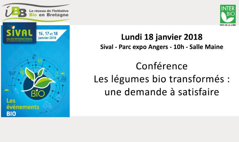 Sival : Les 16, 17 et 18 janvier 2018 à Angers