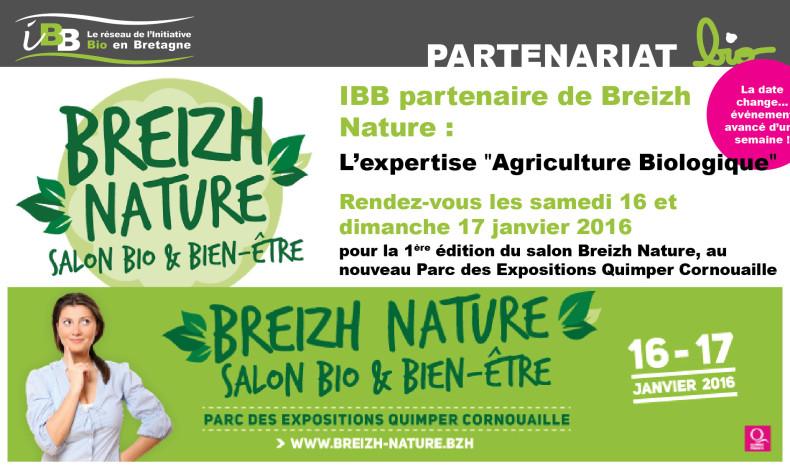 Breizh Nature, salon Bio et bien-être en partenariat avec IBB