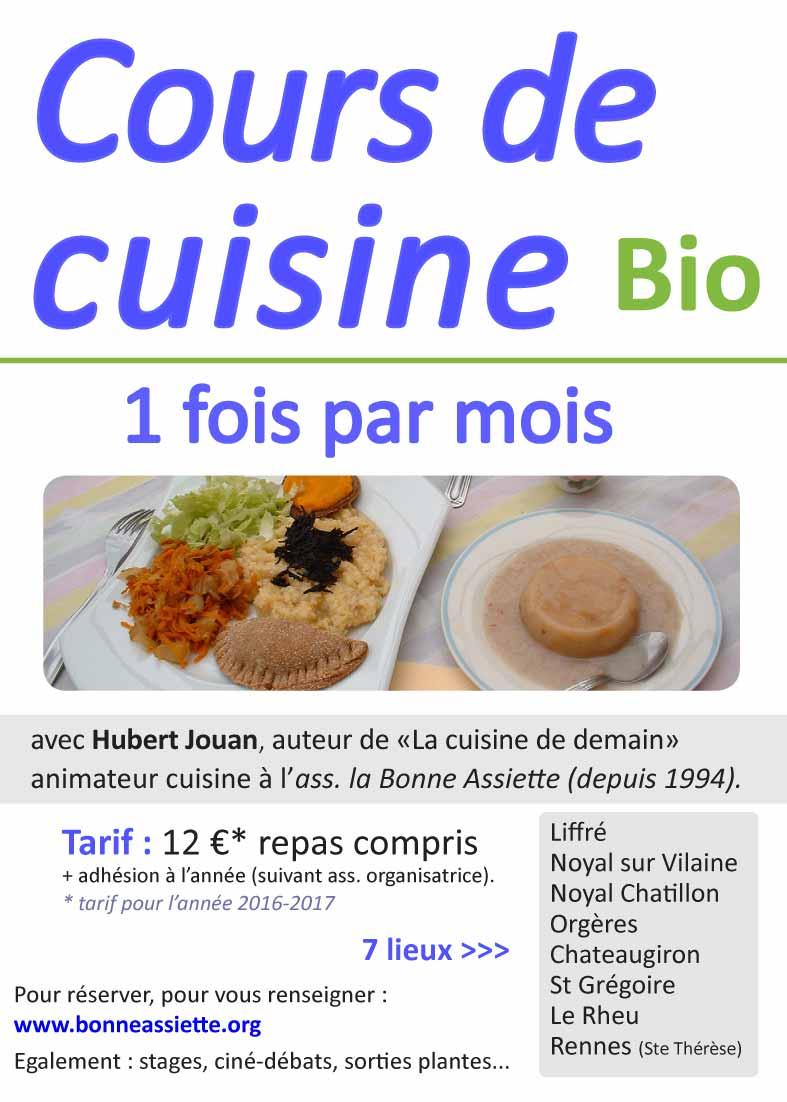 Ibb ateliers de cuisine bio avec la bonne assiette ibb - Cours de cuisine bretagne ...